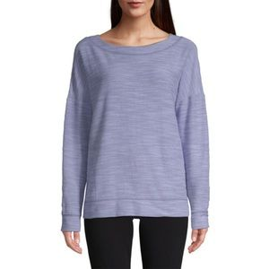 NWT St John's Bay Boatneck French Terry Sweatshirt